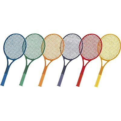 "Champion Sports 21-Inch Plastic Tennis Racquet Set, 21"" Set Of 6/one of colors"