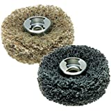 Dremel 511E EZ Lock Coarse Grit and Medium Grit Finishing Abrasive Buffs, 2 Pack