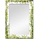 The Attic Meadow Mirror Frame (Glossy Finish, Brown)