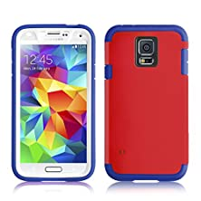 buy Galaxy S5 Case - Heavy Duty Tpu Capsule Cover For Samsung Galaxy S5 / S5 Neo, Navy & Red