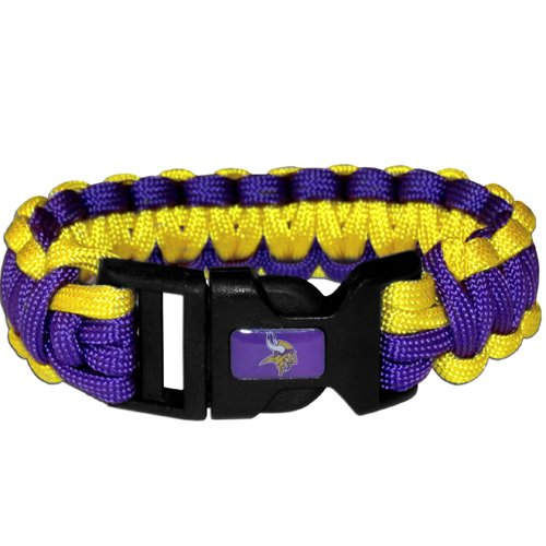 Minnesota Vikings Nfl Survival Paracord Bracelet Large Authentic Football Team