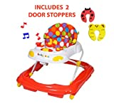 Red Kite Baby Zoo Baby Go Round With Electronic Light And Sounds Tray Baby Walker - INCLUDES 2 NOVELTY DOOR STOPPERS