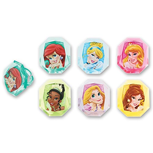 Princess Gemstone Cupcake Topper Rings - Set of 12 (Ariel Gem Ring compare prices)