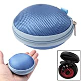CrazyCase® Earphone Carrying Case - Crazy Blue - The practical solution to transport your earbuds / earphones / headphones - fits Apple EarPods, Panasonic RP-HJE120E1K, Philips SHE8500, SHE9000, SHE600, Monster Beats In-Earphones, Creative EP-630, Sennh