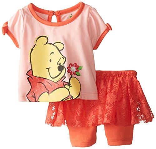 Disney Baby-Girls Newborn Winnie The Pooh Short Set, Orange, 3-6 Months