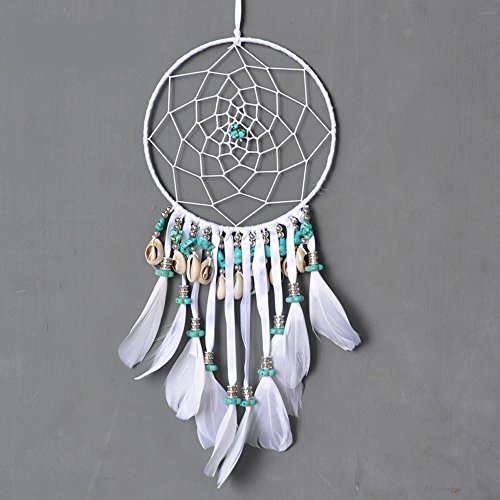 Dremisland Handmade Dream Catcher wall hanging home decoration with shell and Turquoise(Diameter 5.9