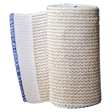 Spa Slender Body Wrap Cotton Elastic 4 inch Wide Bandages Latex Free (Pack of 2)