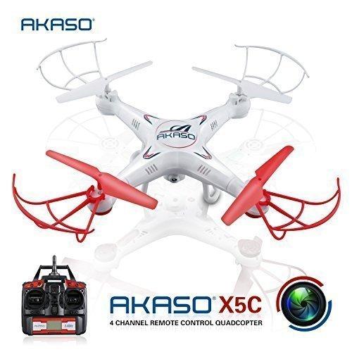 AKASO X5C 4CH 2.4GHz 6-Axis RC Quadcopter with HD Camera, Gyro Headless,...
