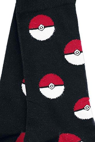 Pokemon-Pokeballs-Calcetines-NegroRojoblanco