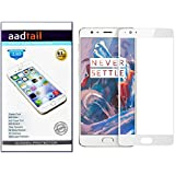 Aadtail OnePlus 3 / One Plus Three / One Plus 3 Tempered Glass (White)