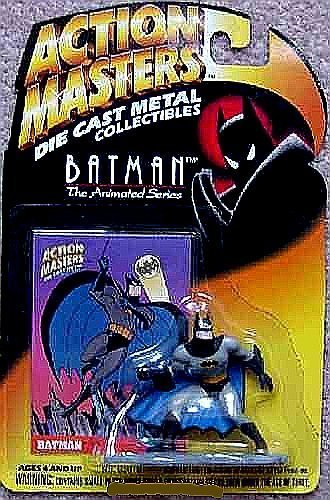 Defensive Batman Die-Cast Metal Collectible Interlocking Figure - Action Masters Batman, The Animated Series - 1