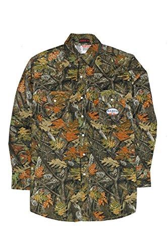 Rasco FR Woodland Camo Lightweight Twill Work Shirt with Snaps - 7.5oz (4XL-Long)