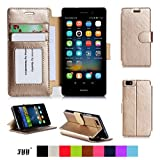 Huawei P8 Lite Case Cover, FYY Premium Leather Flip Case Stand Cover With Card Slots And Note Holder For Huawei...