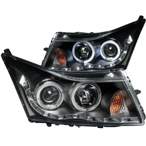 Anzo USA 121400 Black Halo Projector Headlight with Clear Lens for Chevy Cruze (2012 Chevy Cruze Halo Headlights compare prices)