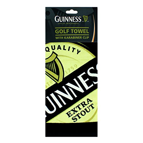 Guinness Label Golf Towel, One Size, Black