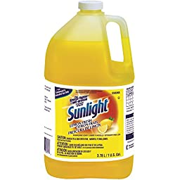 Sunlight Liquid Dish Detergent (Lemon Scent, 1-Gallon, 4-Pack)