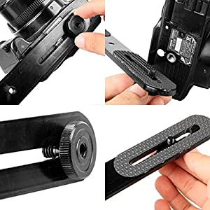 Kaliou 10.6 inches Dual Camera Mount Flash Bracket Extension Bar for Camera Studio Video Light Stand External Flash Speedlite,DSLR Camera LED Light Flash Light Microphone and More (Color: dual extension bar)