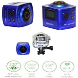 Panoview Panoramic Camera 1080p 30fps WiFi Action Camera 360 Degree Camera With CMOS 8.0MP Sensor 0.96 Inch LCD...