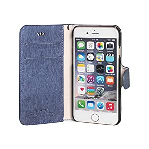 iPhone 6S Case,iPhone 6S,Case for iPhone 6S,iPhone 6S Leather Case, YoungDoria Luxury Wallet Flip Leather Case Cover for iPhone 6S [4.7 inch] (Printing - Dark Blue)