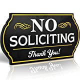 Attractive No Soliciting Metal Sign for Home and Business | 6