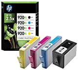 C2N92AE - HP 920XL Combo-pack Black/Cyan/Magenta/Yellow Officejet Ink Cartridges INK CARTRIDGE NO 920 XL