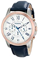 Fossil Men's FS4930 Grant Analog Display Analog Quartz Blue Watch by Fossil