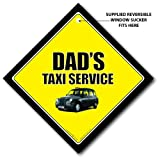 51nJztLxCXL. SL160  Dads Taxi Service Car Sign, Black Cab Car Sign, Baby on Board Sign Style, FREE UK Postage