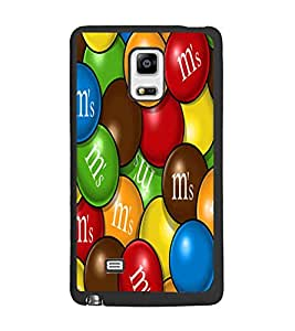 PrintDhaba Coloured Balls D-5561 Back Case Cover for SAMSUNG GALAXY NOTE 4 (Multi-Coloured)