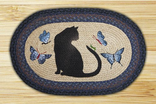 Capitol Importing 65-100CG Cat-Grasshopper - 20 inch x 30 inch Oval Patch