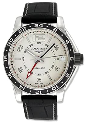 Longines Admiral GMT Dual Time Automatic Steel Mens Watch Date L3.668.4.76.2 from Longines