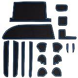 トヨタ 80系 ノア ヴォクシー 専用設計 ゴム ラバー ポケットマット ブルー 17点セット 傷 異音防止