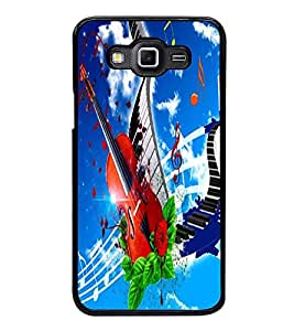 Fuson Premium 2D Back Case Cover Stylish Violin With Multi Background Degined For Samsung Galaxy Grand 3 G720::Samsung Galaxy Grand Max G720