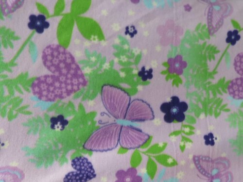 Butterflies And Hearts On Lavender Fleece 58 Inch Wide Fabric By The Yard From The Fabric Exchange ® front-168748