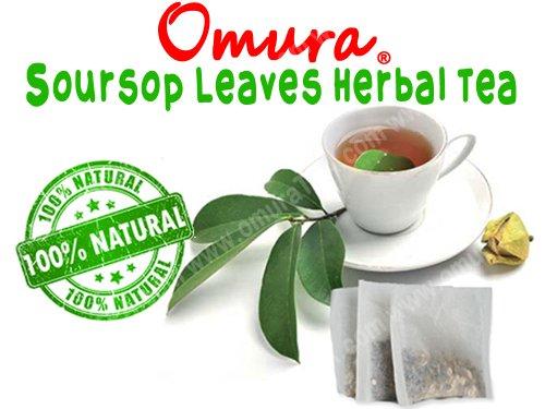Omura Soursop Graviola Guanabana Leaves Herbal Tea All Natural (Pack Of 25)