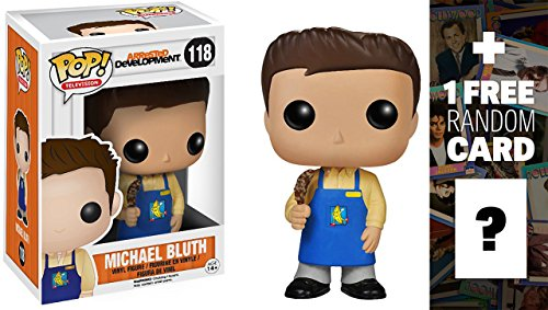 Michael Bluth in Banana Stand Apron: Funko POP! x Arrested Development Vinyl Figure + 1 FREE Official Hollywood themed Trading Card Bundle [39486]