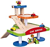Viga 3-Tier Wooden Car Parking Garage with Cars and Helipad #59690