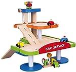 Viga 3-Tier Wooden Car Parking Garage...