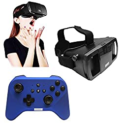 Lefant 3D VR Virtual Reality Immersive IMAX 360 View Headset Adjustable Strap + Handheld Gaming Controller