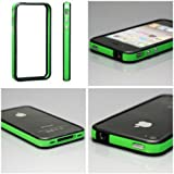 Black & Green Premium Quality Bumper Case Cover Skin For Apple iPhone 4S + [With Free Screen Protector] + [1 Year Warranty] + [ Crazy4Fones Accessories Range ]