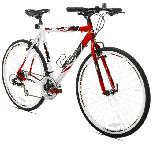 Giordano RS700 Hybrid Bike, 700c, Red/White/Black, Medium