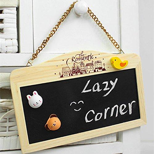 Bluelover-Doppelte-Arbeit-kleine-Tafel-hngenden-Message-Board-Hinweis-Holzhaus-Dekor-Ornamente