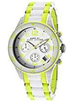 Marcy Jacobs Rock Chronograph White and Green Silicone Ladies Watch MBM2592