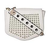 Moedbuille White Polyurethane (PU) Sling Handbag