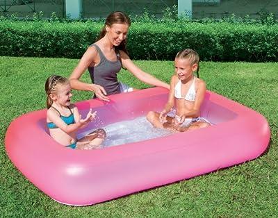 Bestway Planschbecken Pool Fr Kinder Mit Weichem Aufblasbarem Boden Pink bei aufblasbar.de