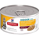 Hill's Science Diet Adult Indoor Cat Savory Chicken Entree Minced Cat Food, 5.5-Ounce Can, 24-Pack