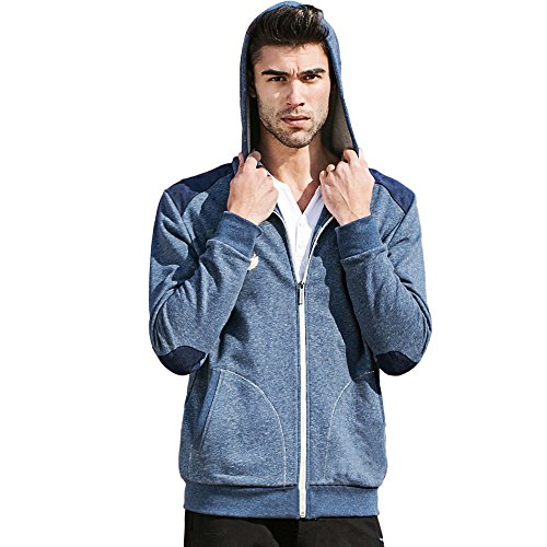 Pioneer-Camp-Mens-Front-Zip-Autumn-Essential-Warmth-Casual-Jacket-Drawstring-Hooded