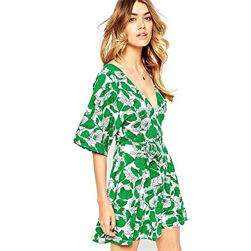 foru-harper-sexy-profondo-scollo-a-v-con-stampa-di-foglie-pattern-street-style-ol-vestito-green-xx-l