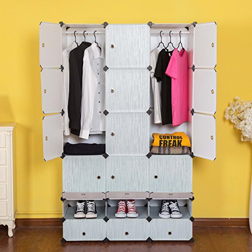 c ahome 12 cubes clothes closet wardrobe armoire. Black Bedroom Furniture Sets. Home Design Ideas