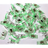 CADY Wonder Clips, Paper Clips, Blinder Clips, Multi-purpose Clips, 100pcs, Green (Color: Green, Tamaño: 100pcs)