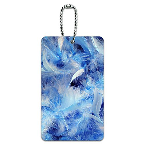 Blue Fluffy Feathers - Angel ID Tag Luggage Card Suitcase Carry-On